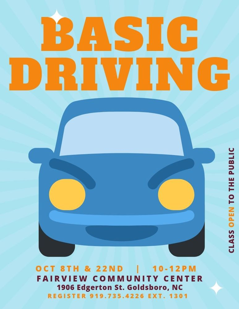basic driving class october 22nd